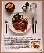 1973 Banquet Print Ad Fried Chicken Frozen Dinner