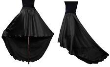 Black  Satin Asymmetrical Skirt Flamingo Skirt High Low Skirt Elastic Waist