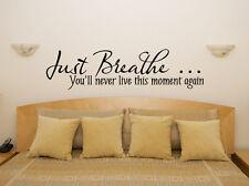 Simplemente Respirar ESTE MOMENTO OTRA VEZ Dormitorio adhesivo para habitación