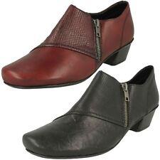 Mujer Cuero Rojo Cremallera Antiestrés Zapatos Pantalones 53851