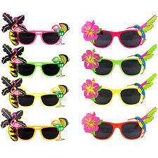 Hawaiian Tropical Floral & Flamingo CockTail Novelty Sunglasses Fancy Dress