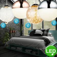 Luxus LED Chrom Pendel Leuchten Glas Kugel Ess Zimmer Decken Hänge Lampen Kupfer