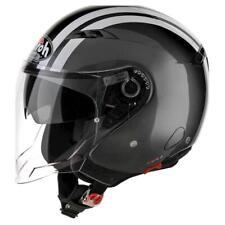 Airoh City One Flash Open Face Jet Motorcycle Scooter Crash Helmet Double Visor