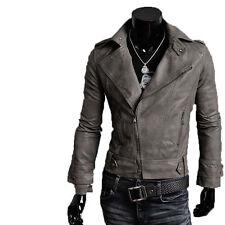 Giacca Giubbotto in Pelle Uomo Men Leather Jacket Veste Blouson Homme Cuir N7p