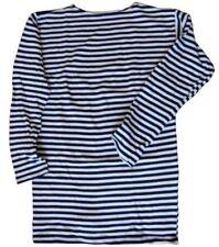 Matrosenhemd Langarmshirt 100%Baumwolle Telnjaschka Shirt Ringelshirt für Winter