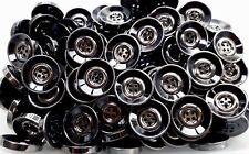 Large 30mm 34mm Black & Gunmetal Silver Grey 4 Hole Chunky Buttons (Q141A-B)