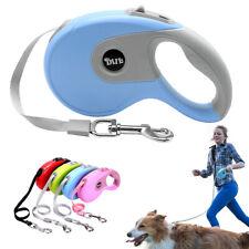 Heavy Duty 5M Retractable Dog Lead Tape 16ft Reflective Pet Extending Leash 50KG