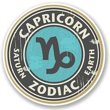 2 x Capricorn Zodiac Star Sign Vinyl Sticker iPad Laptop Gift Horoscope #4317
