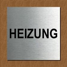 Schild Türschild Edelstahl Design Piktogramm - Heizung