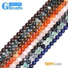 """New 8mm Natural Assorted Semi Gemstones Round Jewelry Making Beads Strand 15"""""""