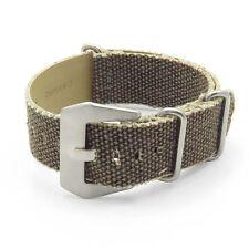 DASSARI Shred Frayed Edge Canvas Distressed Watch Band Vintage Strap in Grey