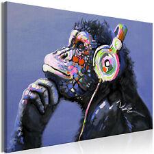 Wandbilder xxl Affe Musik wie gemalt Leinwand Bilder Wohnzimmer g-C-0089-b-a