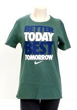 Nike Green Better Today Best Tomorrow Short Sleeve T Tee Shirt Women's NWT