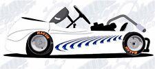 Swoosh vinyl graphic decal motorcycle go kart race car decal