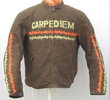 "Textil-Jacke  Waxjacke Street Wear Motorradjacke "" Carpe Diem "" Textiljacke grün"