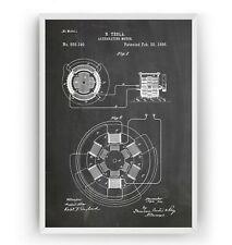 Tesla Patent Print Science Poster Nikola Invention Art Engineer Gift - Unframed