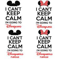 Keep Calm Disneyland Disneyworld Disney Mickey Mouse Iron On T-shirt Transfer