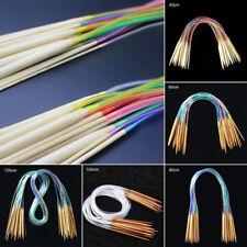 18 Type Circular Knitting Needles Set Kit Accessories Bamboo Wood Supplies one