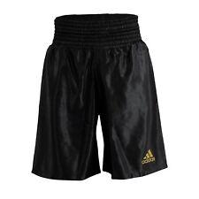 Adidas Boxing Shorts 2018 Black Satin Amateur Pro Adults Kids Mens Elasticated