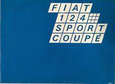 Fiat 124 Sport Coupe 1400 1969-70 UK Market Sales Brochure