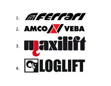 Sticker, aufkleber, decal - FERRARI AMCO VEBA MAXILIFT LOGLIFT - 50, 70, 100 cm