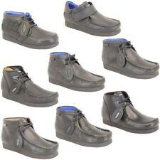 Chaussures École Garçon Deakins Enfants Bottes Cuir Jeunesse Lacet