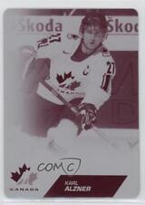 2013 Upper Deck Team Canada Printing Plates Magenta #57 Karl Alzner Hockey Card