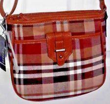 Ladies / Girl's Merlot Plaid Handbag
