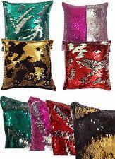 Magic Mermaid Pillow Reversible Sequin Glitter Sofa Cushion Cover Large 56x56cms