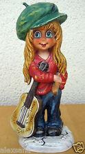 "Goebel Figurine Michel T. Mic 12 Guitar Player Girl Children Of Paris 9"" High"