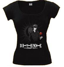 T-Shirt Donna Deathnote Apple Top Maglietta Maniche Corte *07624