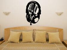 Headphone Microphone Music Tune Studio Wall Art Decal Sticker Picture Decorate