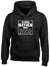 Causing Mayhem Since 2008 Birthday Kids Childrens Hoodie