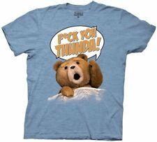 Ted F*ck You Thunda Adult Light Blue T-shirt
