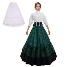 Victorian Women Civil War Dress Reenactment Theater Corset Costume Gown