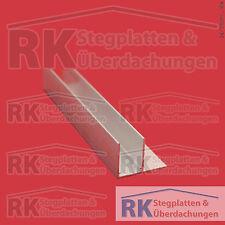 F-Profil, Aluminium pressblank, 16 mm Aufnahme, 5,40 Euro/lfdm