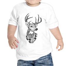 T-Shirt neu geboren Hirsch Zeichnung Hipster