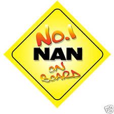 No.1 Nan On Board Novelty Car Sign Birthday Gift