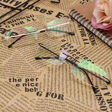 Men Titanium Alloy No Rim Reading Glasses Presbyopia Eyeglasses Frameless