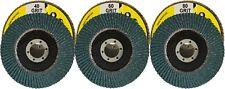 115mm x 22mm Zirconium Oxide Flap Disc : Various Grades (See Listing)