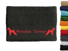 Airdale Terrier Hundemotiv Handtuch Hundehandtuch Hunde 100cm x 50cm mit Namen