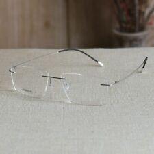 Rimless titanium eyelgasses mens business silver goold glasses RX optical lens