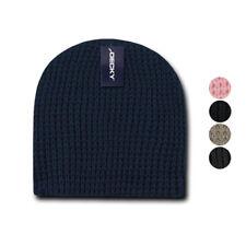 327438cbfc4 Decky Waffle Knit Beanies Short Uncuffed Braid Crocheted Hats Caps Warm  Winter