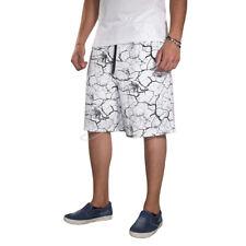 Pantalón De Chándal Hombre Bermudas Corto Elástico En Blanco Primavera Fantasía
