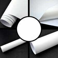 (4,89€/m²) Matt Folie weiss Luftkanäle selbstklebend Autofolie Auto Weiß Wrap