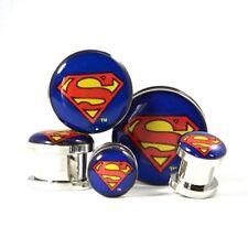 Superman Screw-on Gauges/plugs 316l Surgical Steel Nickle Free (1 Pair)