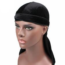 Men's Velvet Durags Bandana Turban Hat Doo Durag Headwear Headband Pirate Cap