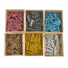 Mini Wooden Clothespins, 50-Count