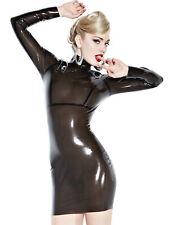 Femme Honour séducteur robe en noir latex écran de fumée costume longsleeves
