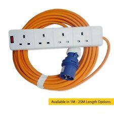 16A NARANJA 230v azul macho a 4 toma enchufe extensión Conexión del cable